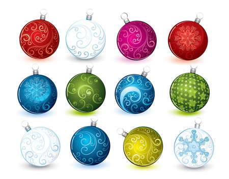 Collection of Christmas spheres  Vector