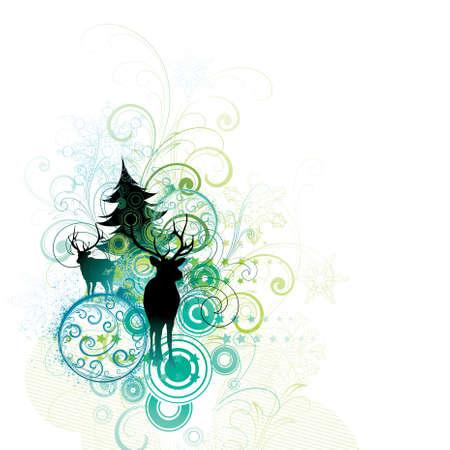 Christmas decorative composition Vector