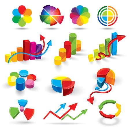 Icônes de la couleur et les annexes statistiques