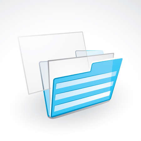 Folder with files Stock Vector - 6199101