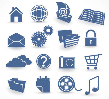 web icons Stock Vector - 6199106