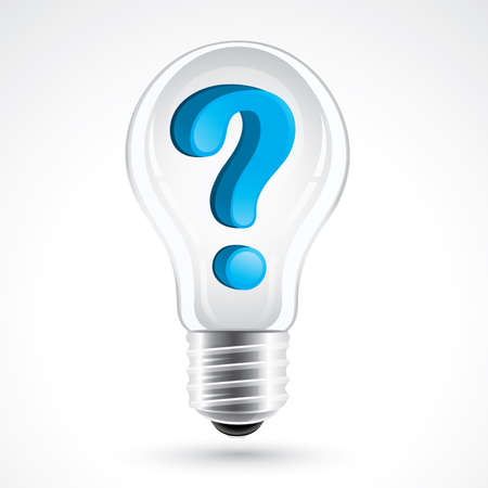 Lightbulb with question mark Stock Vector - 6536660