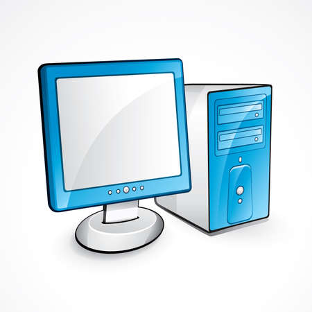 pc icon: Computer illustration