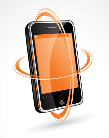 Phone illustration Stock Vector - 6611924