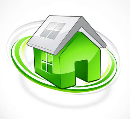 Ecologically pure product: House symbol