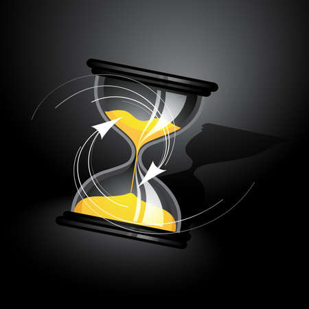 sand timer: Hourglass