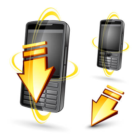 Phone illustration Stock Vector - 6975748