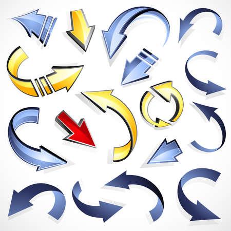indexes: Arrows 3D Illustration