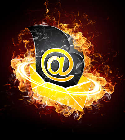 Hot the letter Stock Photo - 7078587