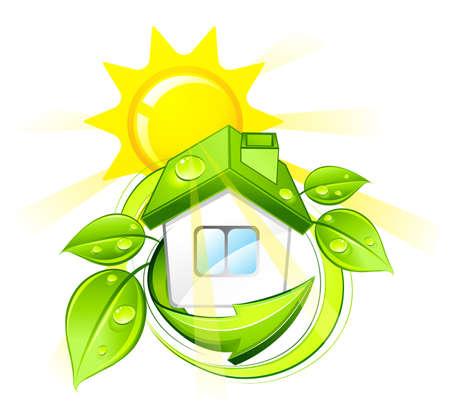 maison solaire: Maison solaire  Illustration