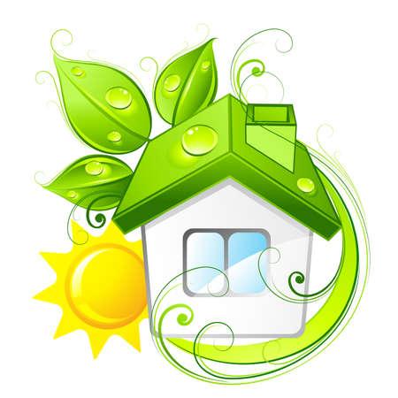 Grün Haus  Illustration