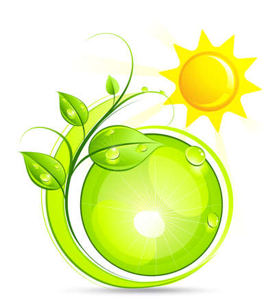 germinaci�n: Composici�n verde solar  Vectores