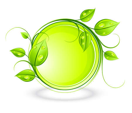 dew: Green composition Illustration