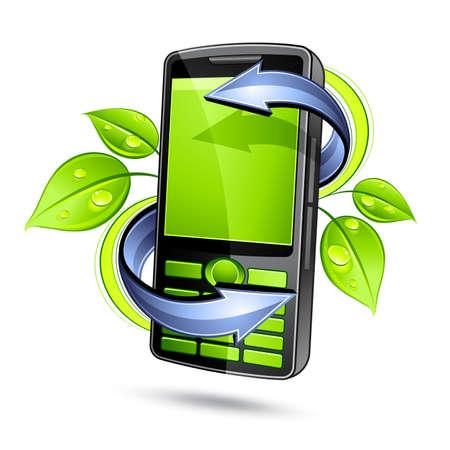 Green phone Stock Vector - 7163688