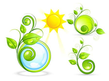 germinaci�n: Composici�n solar con elementos