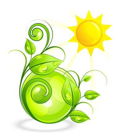 rotund: Solar green composition Illustration