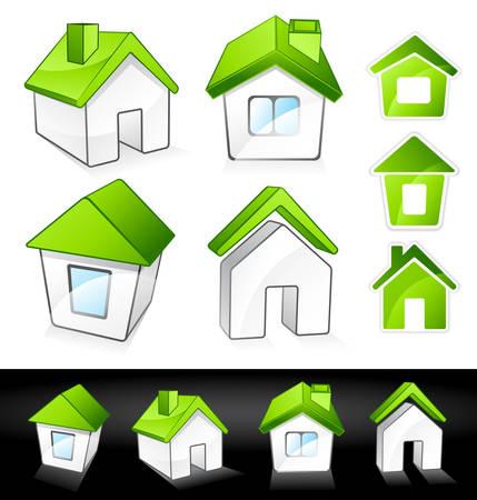 Green houses Stock Vector - 7288111