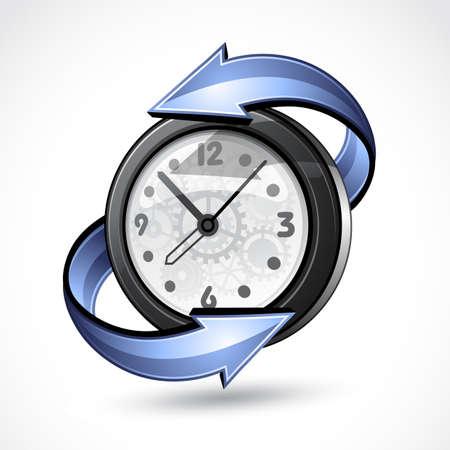clockwise: Illustration of hours  Illustration