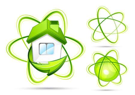 Green home. Business logo Stock Vector - 7288107