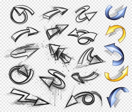 kursor: Arrows 3W  Ilustracja