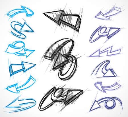 cursor: Arrows 3D Illustration