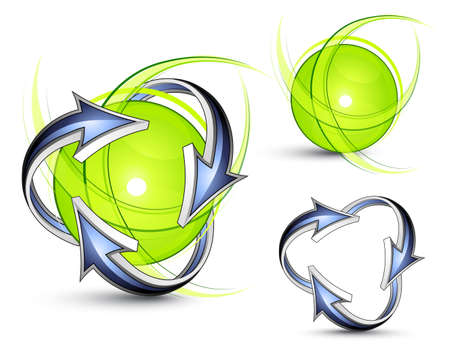 Green planet. Business logo Stock Vector - 7444765