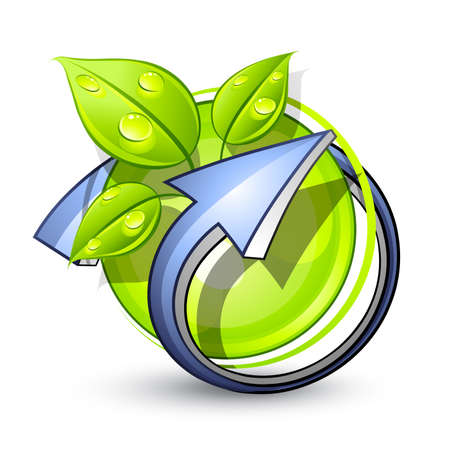Green planet. Business logo Stock Vector - 7444761