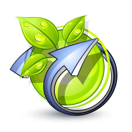 green planet: Green Planet. Logo Business Illustration
