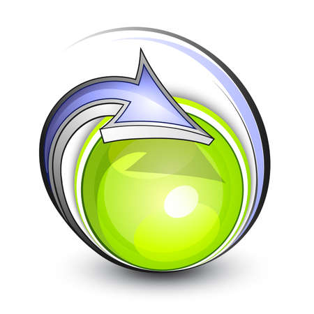 Green planet. Business logo Stock Vector - 7444757