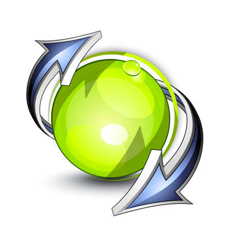 rotund: Green planet. Business logo