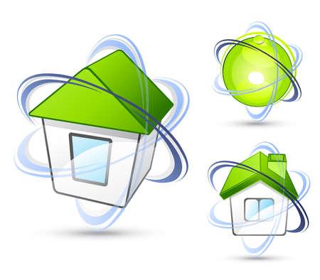 Green house. Business logo Stock Vector - 7444767