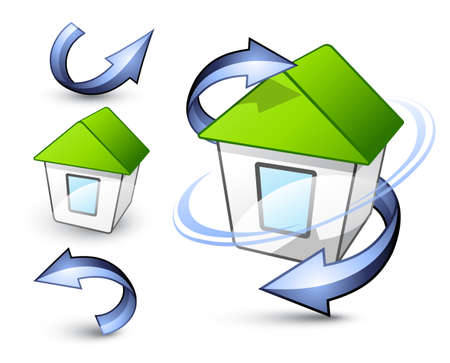 Green house. Business logo Stock Vector - 7444762