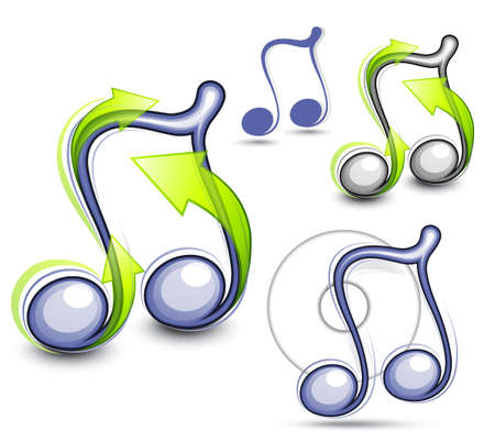 Musical note. Vector illustration Vector