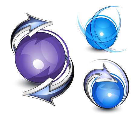 Esferas abstractas. Logotipo de empresa  Logos
