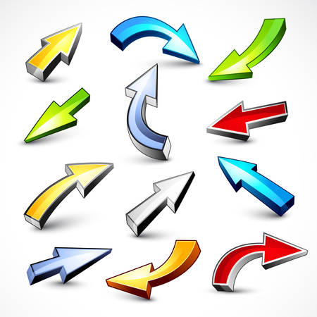 Colour arrows Stock Vector - 7605533