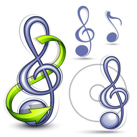 logo music: Treble clef Illustration