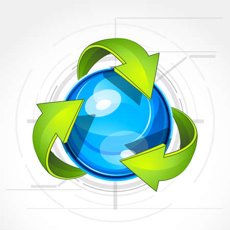 Illustration of recycle Stock Vector - 7640922