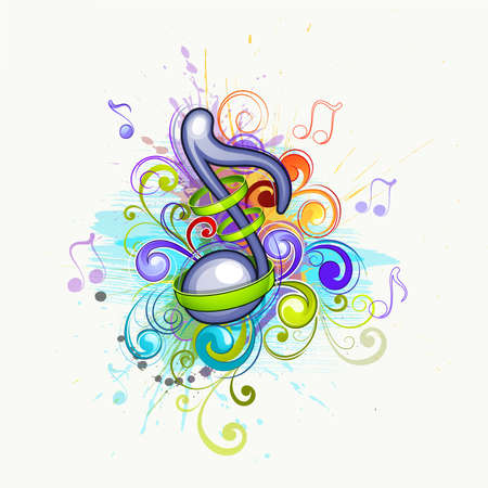 abstract music background: Musical background