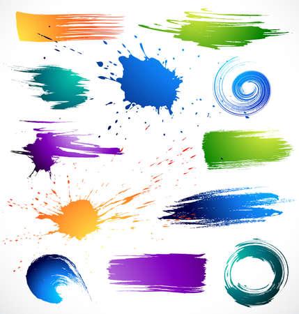 splotches: Colour paints.Grungy