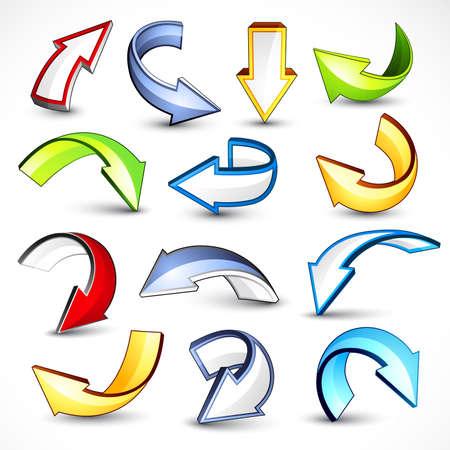 cursor: Colour arrows Illustration