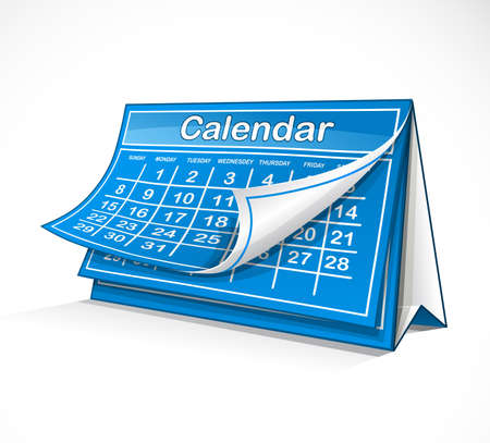 months of the year: Calendar Illustration