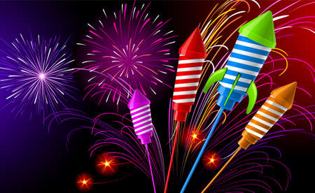 Fireworks Stock Vector - 8036977