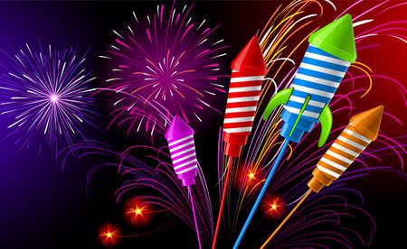 Fireworks Stock Vector - 8036977