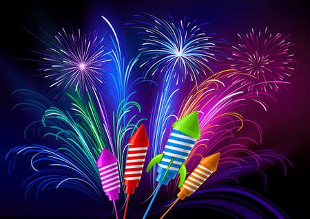 Fireworks Stock Vector - 8036978