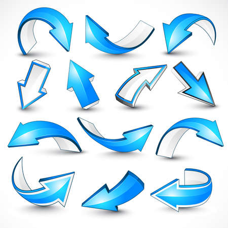 Blue arrows.   illustration Vector