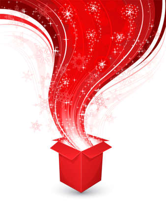 hamper: Abstract background with a Christmas gift Illustration