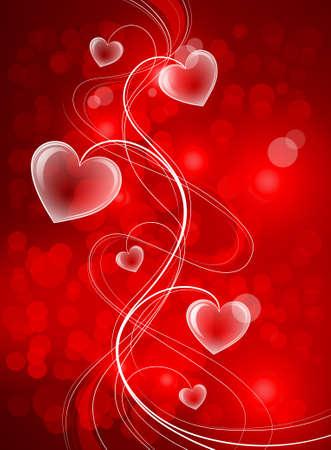 glitter hearts: Valentines background Illustration
