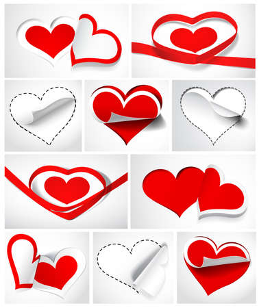 Collection of hearts. Vector illustration Vector