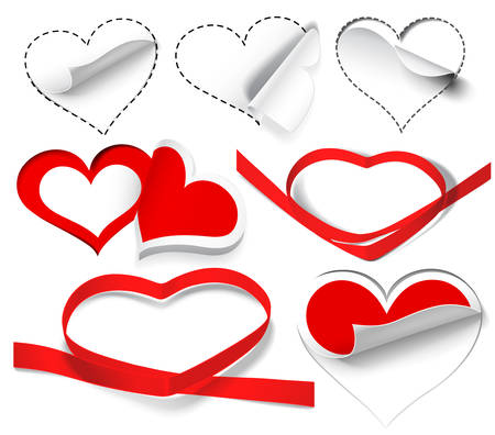 Collection of hearts.  Stock Vector - 8625851