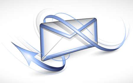 sending: Carta electr�nica Vectores